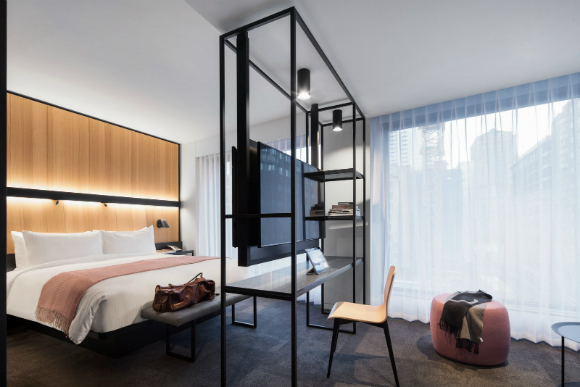 Canada 39 s most innovative hotel opens its doors in downtown for Hotel network design