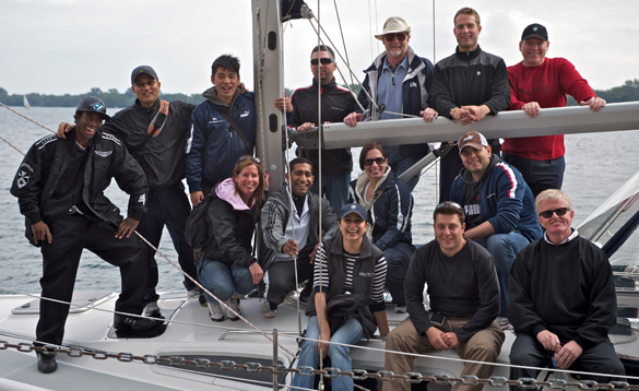 corporate teambuilding on sailboats