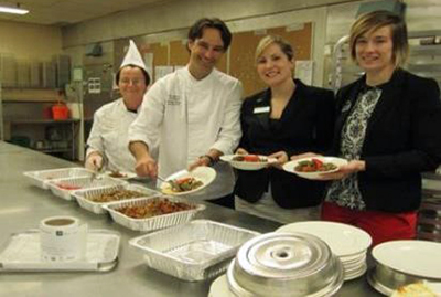 Staff at Westin Ottawa preparing food for donation